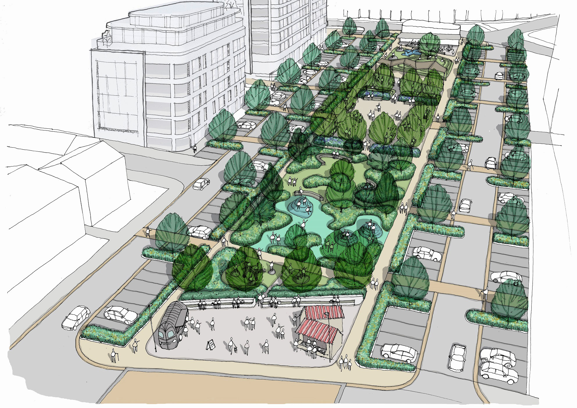 Criticism of plan for park bognor regis post for Linear architecture design