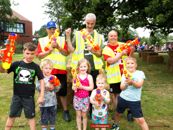 Water fight in Aldingbourne (1)
