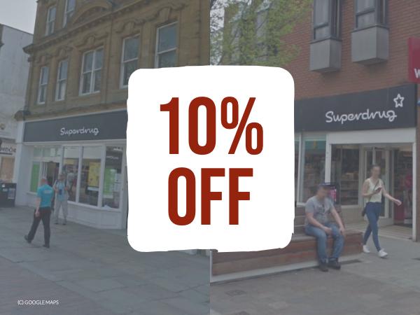 superdrug 10 discount